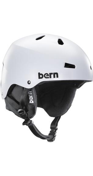 Bern Macon EPS Satin White w/ Black Liner